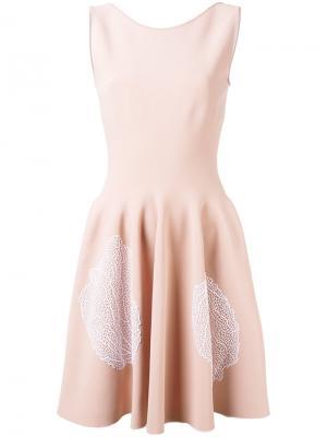 Мини-платье с растительным узором Antonino Valenti. Цвет: розовый и фиолетовый