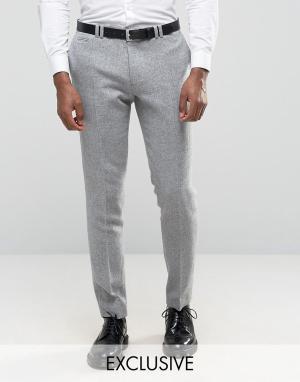 Noak Зауженные брюки с отворотами. Цвет: серый