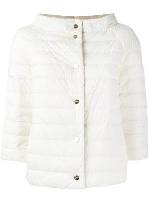 Reversible padded jacket Herno. Цвет: телесный