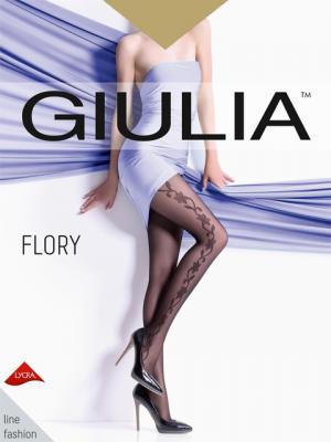 Фантазийные колготки FLORY 14, 2 пары (40 ден) Giulia. Цвет: светло-коричневый