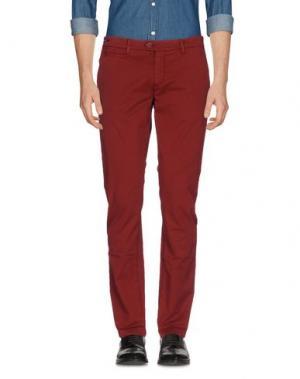 Повседневные брюки TELERIA ZED. Цвет: красно-коричневый