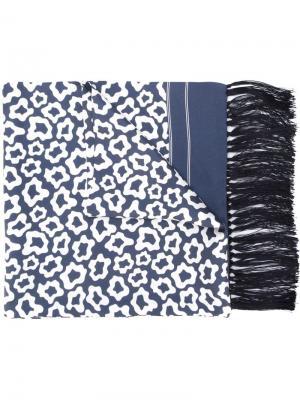 Шарф с леопардовым принтом E. Tautz. Цвет: синий