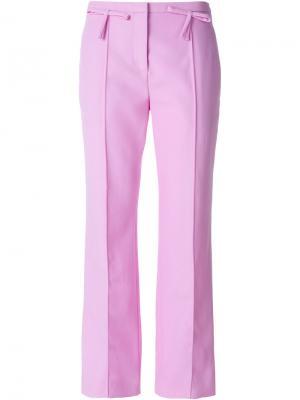 Прямые брюки с бантом Valentino. Цвет: розовый и фиолетовый