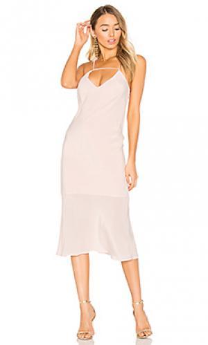 Платье-комбинация amore Suboo. Цвет: розовый