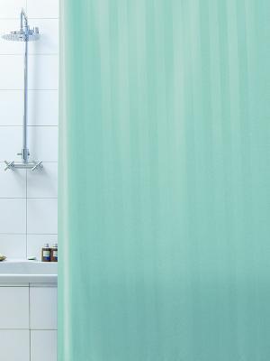 Штора д/ванн 180х200 Rigone зел. (шт.) Bacchetta. Цвет: светло-зеленый