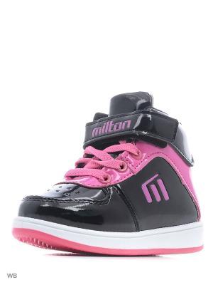 Ботинки Milton. Цвет: черный, фуксия