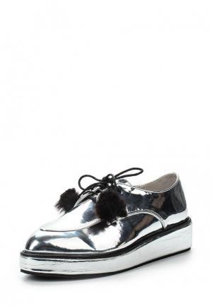Ботинки LOST INK. Цвет: серебряный
