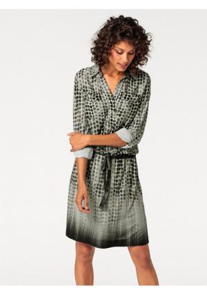 Платье B.C. BEST CONNECTIONS. Цвет: оливковый