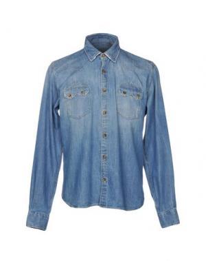 Джинсовая рубашка REIGN. Цвет: синий