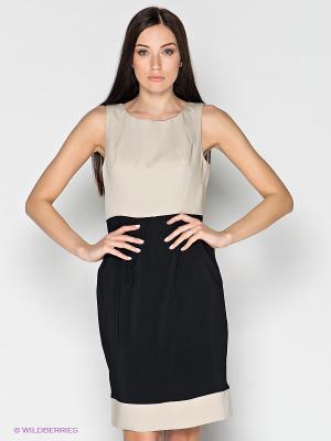 Платье LUIGI FERRO. Цвет: черный, светло-бежевый