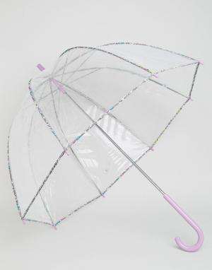 Totes Зонт из ПВХ с принтом в мелкий цветочек на окантовке. Цвет: бесцветный