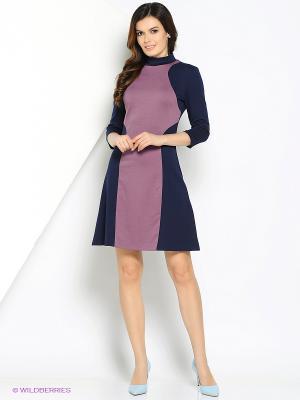 Платье МадаМ Т. Цвет: темно-синий, сиреневый