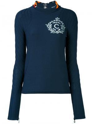 Блузка с вырезом на спине Carven. Цвет: синий