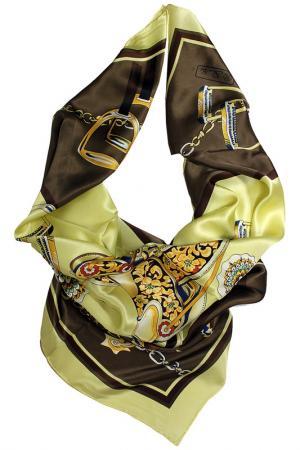 Шелковый платок SHALBE. Цвет: коричневый