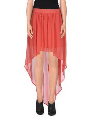 Мини-юбка LA KORE. Цвет: коралловый