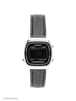 Часы Casio LA670WEL-1B. Цвет: серый, черный