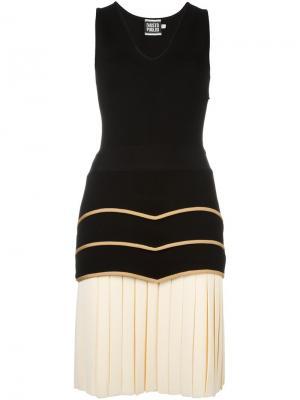 Плиссированное платье Fausto Puglisi. Цвет: чёрный