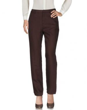 Повседневные брюки OTTOD'AME. Цвет: темно-коричневый