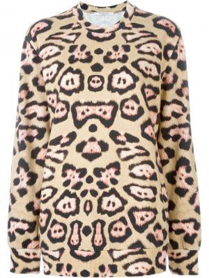 Толстовка с леопардовым принтом Givenchy. Цвет: телесный