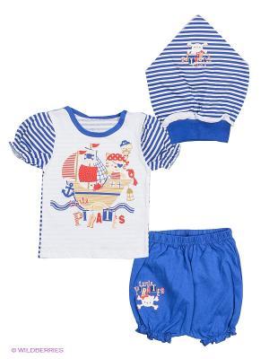 Комплект одежды Апрель. Цвет: синий, белый