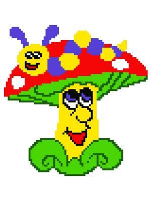 Набор 22х22 (рис/канв., мулине) NITEX. Цвет: красный, желтый, зеленый