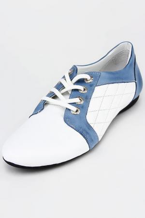 Туфли DAKKEM. Цвет: белый, голубой