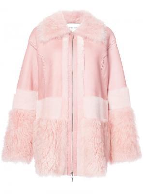 Пальто на молнии Prabal Gurung. Цвет: розовый и фиолетовый