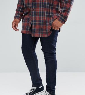 ASOS Супероблегающие джинсы цвета индиго Plus. Цвет: синий