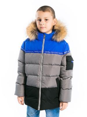 Куртка Арсений Аксарт. Цвет: индиго, серый, черный
