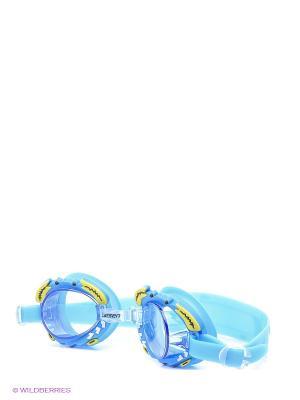 Очки плавательные Крабик Larsen. Цвет: синий