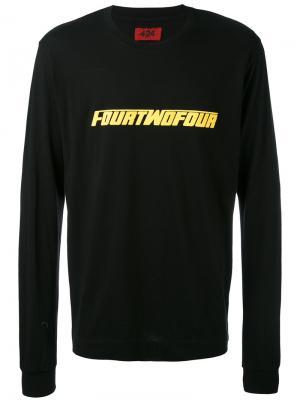 Толстовка FourTwoFour 424 Fairfax. Цвет: чёрный