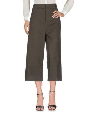 Повседневные брюки DIXIE. Цвет: темно-зеленый