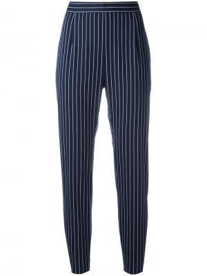 Укороченные полосатые брюки Pierre Balmain. Цвет: синий