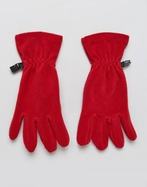 Hunter Флисовые перчатки Original. Цвет: красный