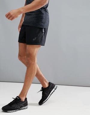 Asics Черные шорты Running 5 134630-0904. Цвет: черный
