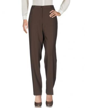 Повседневные брюки L.P. di L. PUCCI. Цвет: хаки