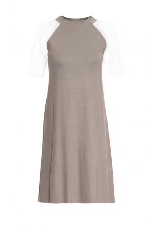 Трикотажное платье 146148 Firkant. Цвет: серый