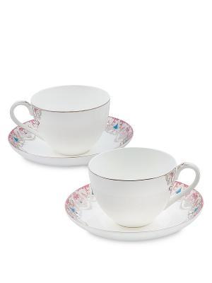 Чайный набор на 2 перс.Каприз Примадонны (Pavone) Pavone. Цвет: белый
