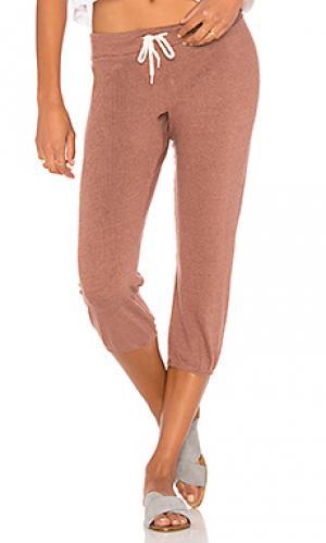 Винтажные спортивные брюки 3/4 MONROW. Цвет: оранжевый