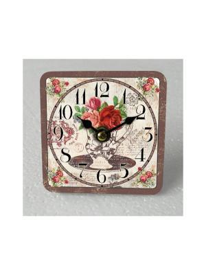 Часы настольные Ваза с цветами Magic Home. Цвет: серебристый, бронзовый, серый меланж
