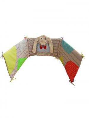 Игрушка Deglingos Собачка Nanos - Защитный Барьер для Кроватки. Цвет: бежевый