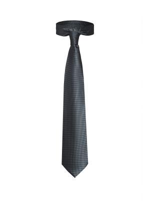 Классический галстук Дело в Нью Йорке с оригинальным принтом Signature A.P.. Цвет: темно-серый
