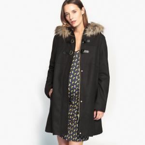 Пальто для периода беременности La Redoute Collections. Цвет: черный