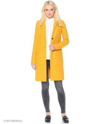 Пальто ONLY. Цвет: желтый