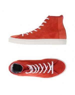 Высокие кеды и кроссовки DIEMME. Цвет: красный