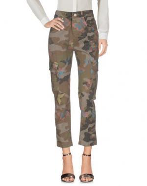 Повседневные брюки UFFICIO 87. Цвет: зеленый-милитари
