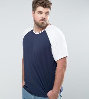 Another Influence Бейсбольная футболка с рукавами реглан PLUS. Цвет: белый