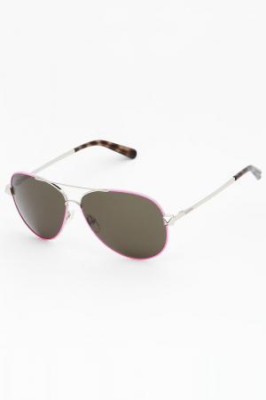 Очки солнцезащитные Valentino. Цвет: розовый
