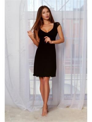 Ночная сорочка Анатель. Цвет: черный