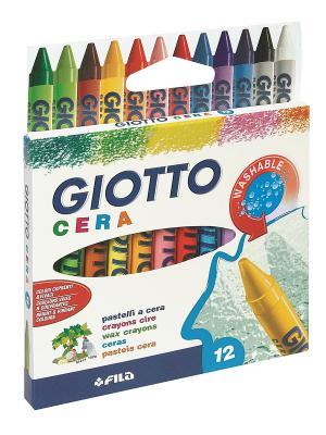 Восковые карандаши 12 цв. FILA. Цвет: желтый, белый, синий